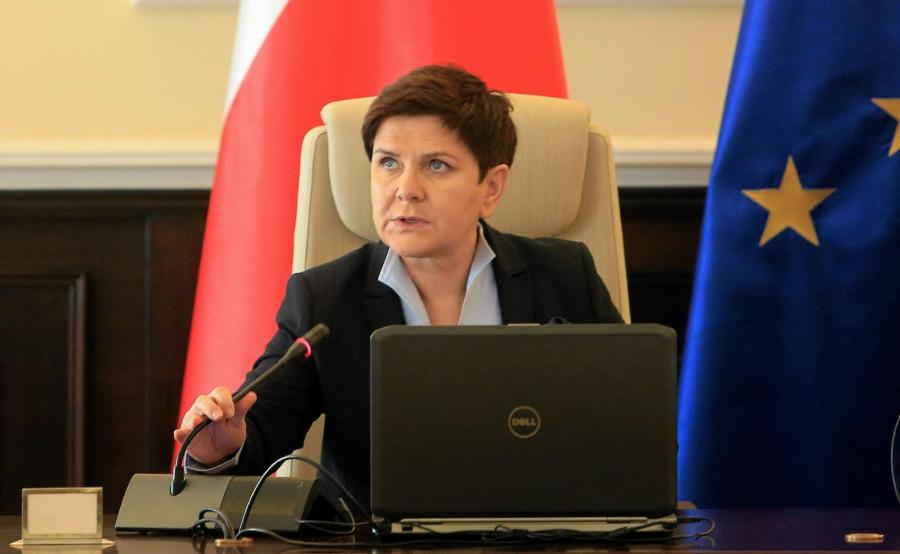 Premier w czasie posiedzenia rządu