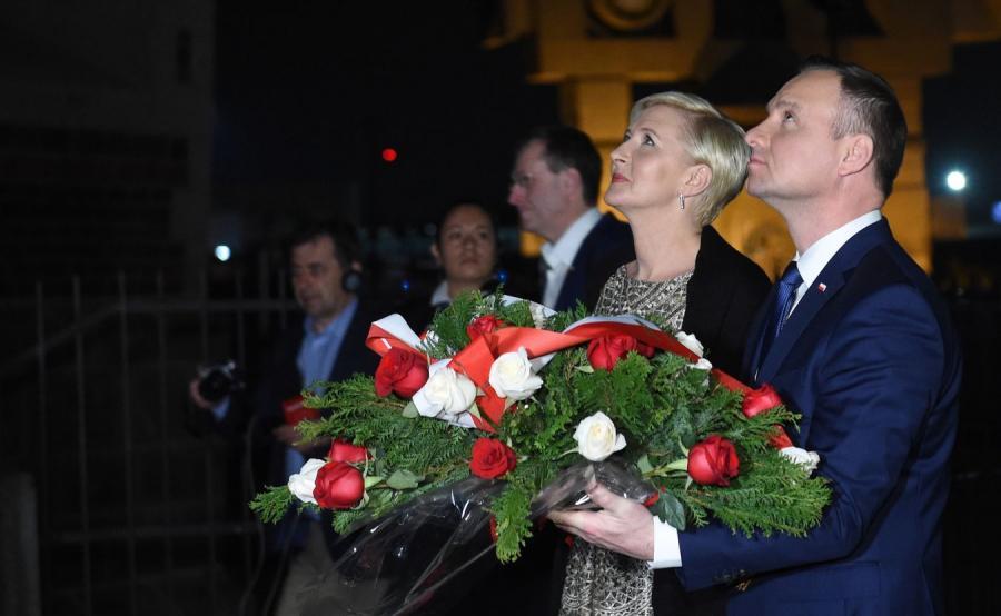 Para prezydencka złożyła kwiaty pod pomnikiem Jana Pawła II w Bazylice Matki Boskiej z Guadelupe w Meksyku