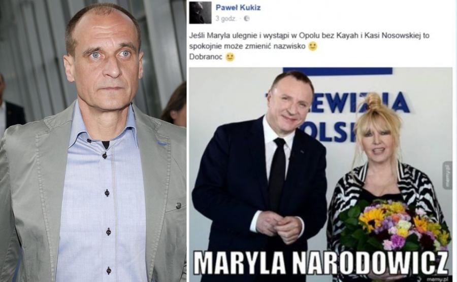 Paweł Kukiz, Jacek Kurski i Maryla Rodowicz