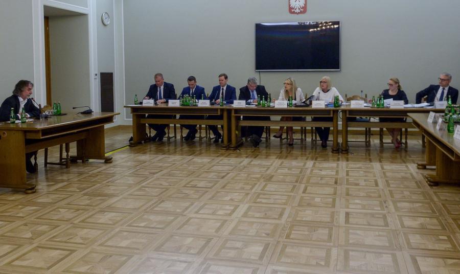 Posiedzenie komisji śledczej