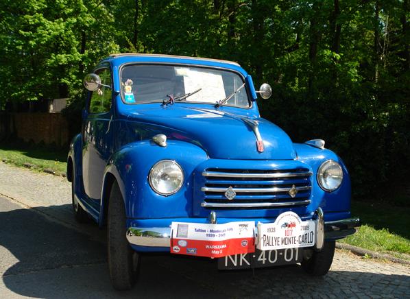 zdobywa historyczną trasę Rajdu Monte Carlo z 1939 roku