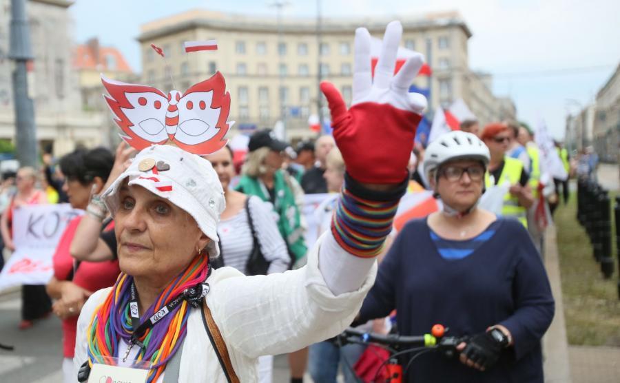 Manifestacja KOD w Warszawie