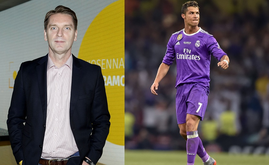 Tomasz Lis i Cristiano Ronaldo