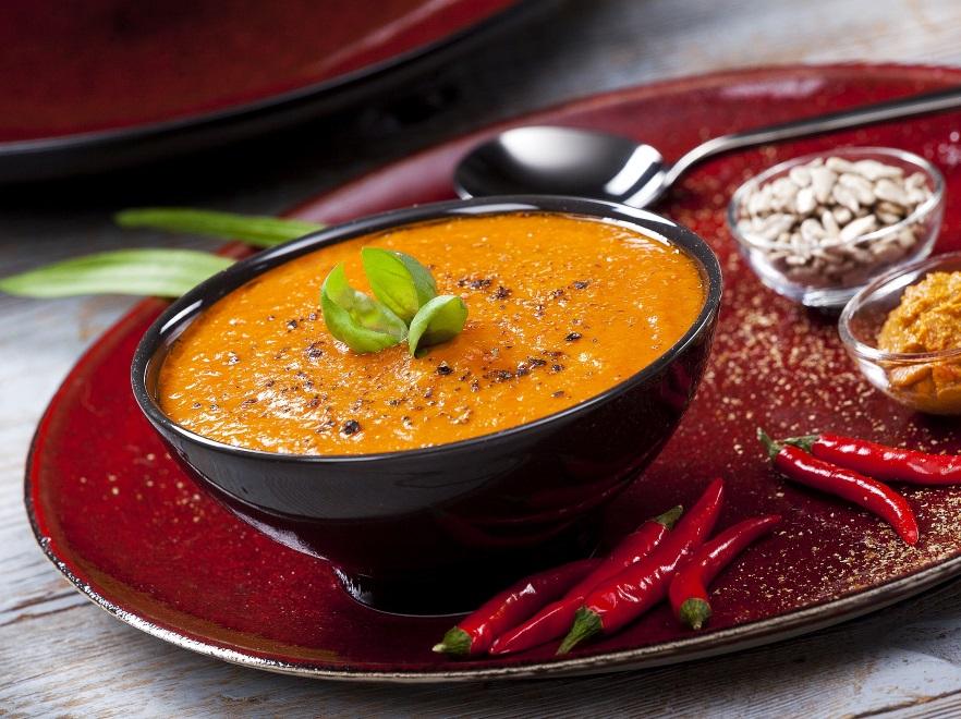 Zupa krem z batatów i pieczonej papryki