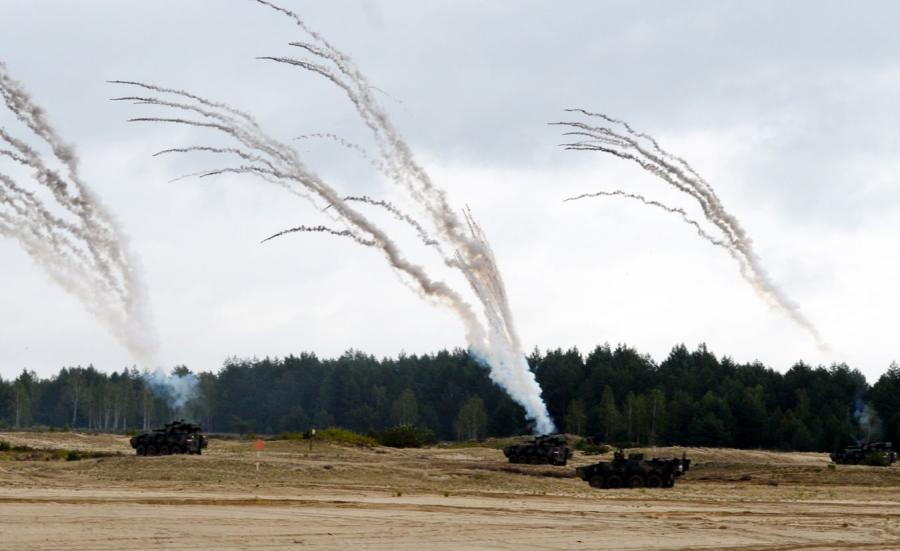 XXV Międzynarodowy Salon Przemysłu Obronnego. Transportery opancerzone Rosomak w akcji