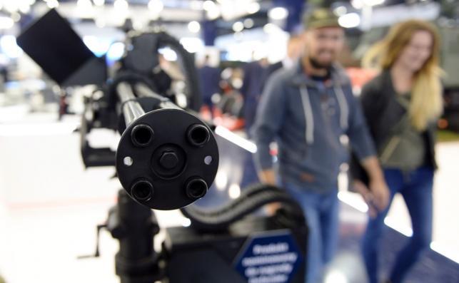 Wielolufowy karabin maszynowy WLKM zaprezentowany podczas XXV Międzynarodowego Salonu Przemysłu Obronnego