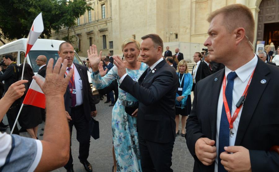 Prezydent Andrzej Duda wraz z małżonką