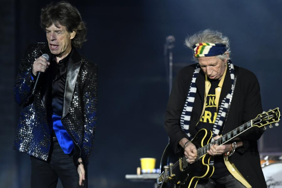 Micka Jagger oraz Keith Richards podczas koncertu The Rolling Stones w Zurychu, 20.09.2017