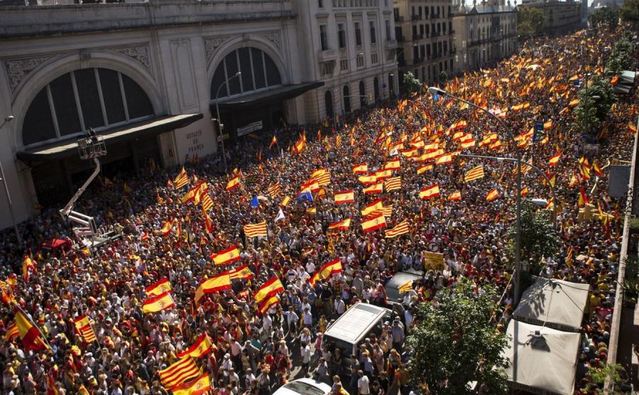 Protest w Barcelonie