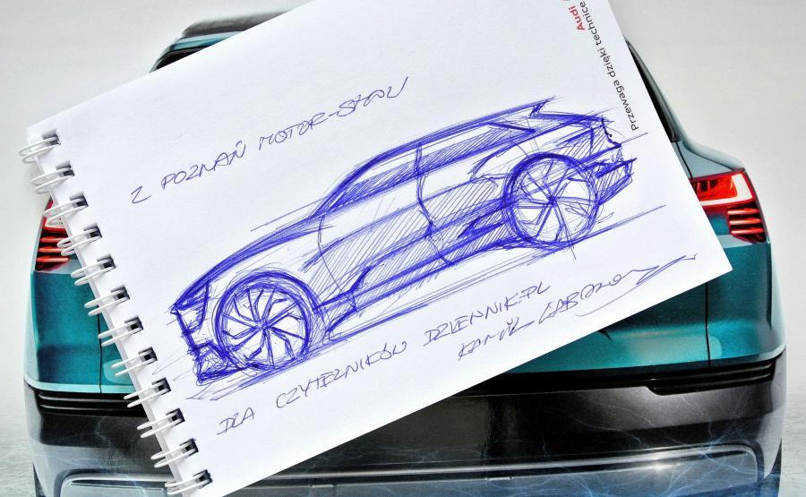 Audi e-tron quattro concept - rysował Kamil Łabanowicz