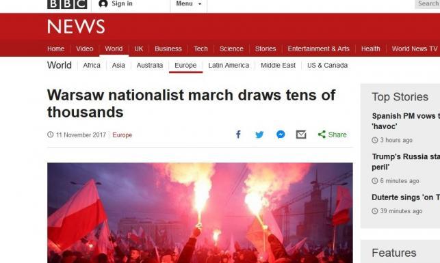 Nacjonaliści? Skrajna prawica? Neonaziści? Jak media na świecie opisują Marsz Niepodległości