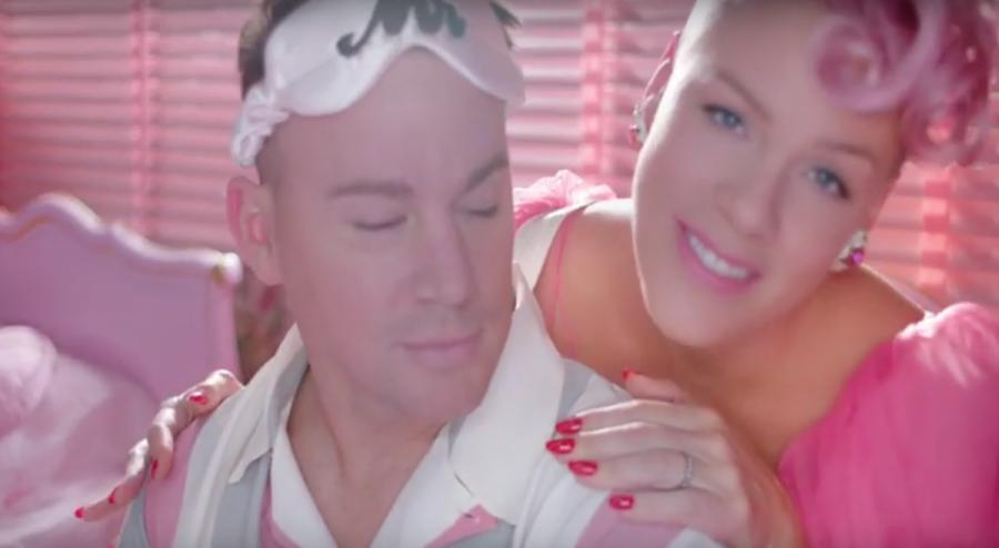 Channing Tatum i Pink w teledysku \