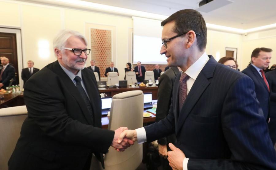 Witold Waszczykowski i Mateusz Morawiecki