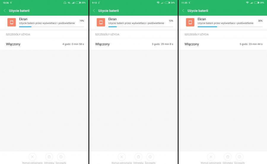 Xiaomi Mi Mix 2 - czas pracy na baterii