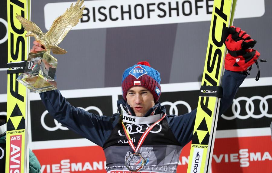 Kamil Stoch wygrał czwarty konkurs i cały Turnieju Czterech Skoczni