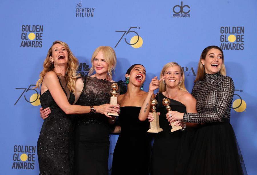 Laura Dern, Nicole Kidman, Zoe Kravitz, Reese Witherspoon oraz Shailene Woodley z nagrodą za \