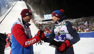 Trener reprezentacji Polski Stefan Horngacher i Kamil Stoch
