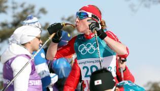 Justyna Kowalczyk na trasie biegu na 30 km techniką klasyczną