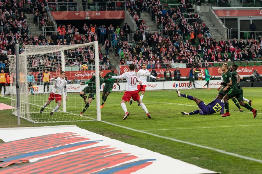 Nieuznana bramka dla Polski strzelona podczas towarzyskiego meczu z Nigerią