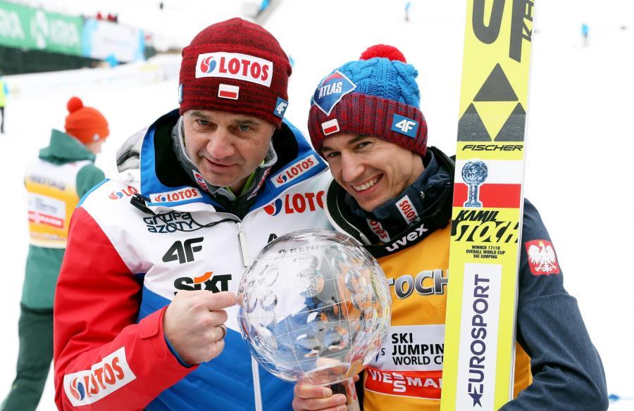 Stefan Horngacher (L) i Kamil Stoch (P)