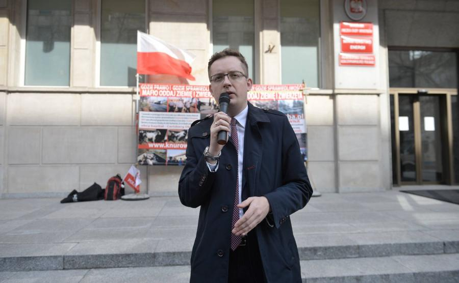 Lider Ruchu Narodowego Robert Winnicki