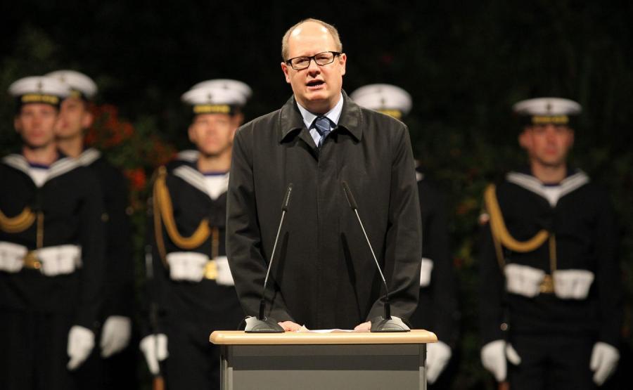 Paweł Adamowicz na Westerplatte