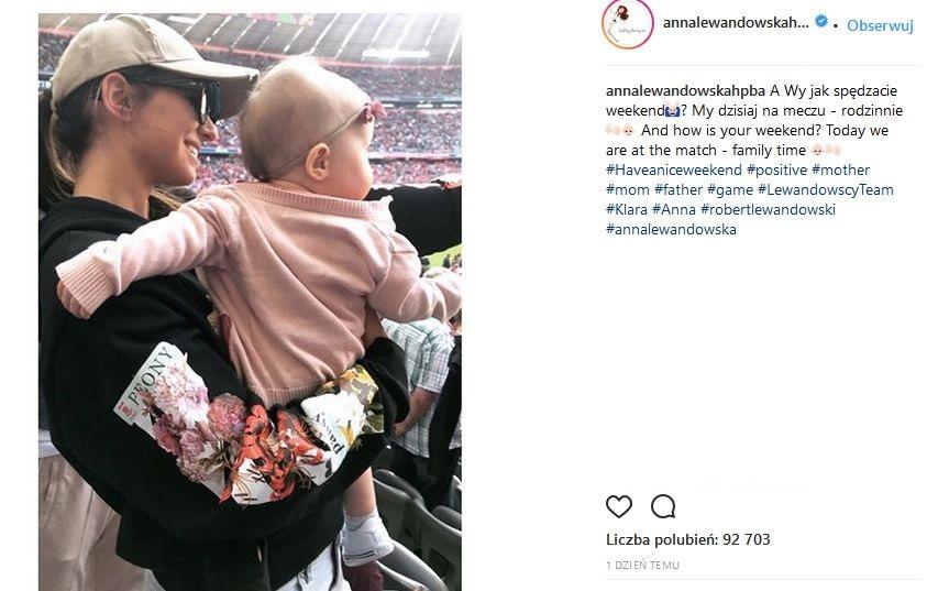 Anna Lewandowska z córką Klarą