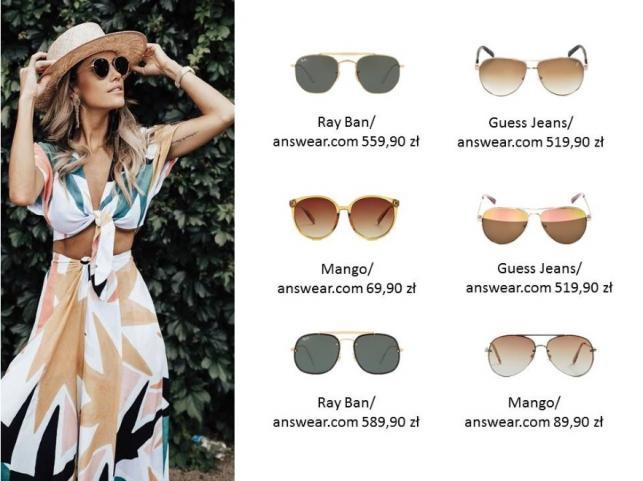Modne okulary przeciwsłoneczne na lato 2018