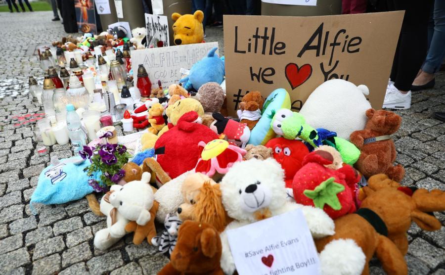 Protest w obronie Alfiego Evansa