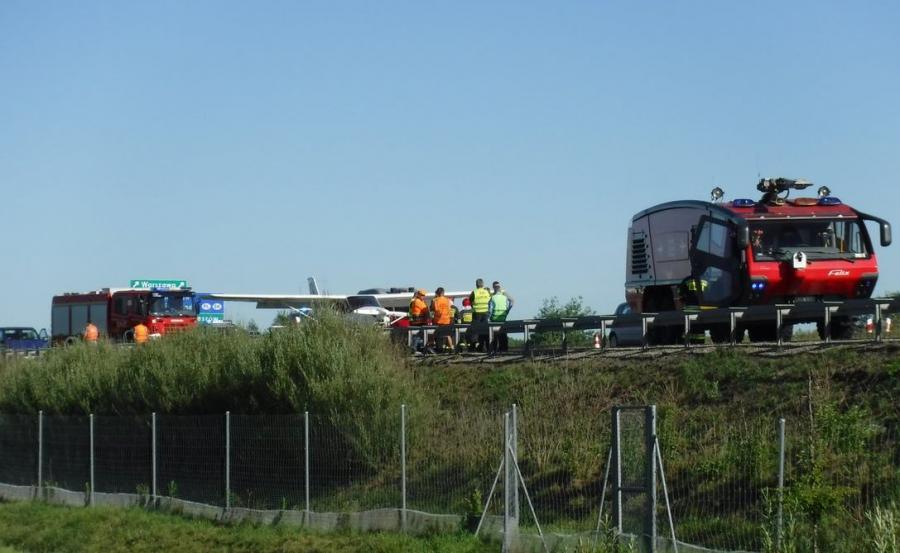 Awionetka wylądowała na autostradzie A4