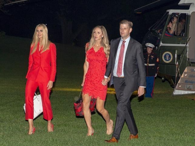 Ivanka Trump ora Lara i Eric Trumpowie