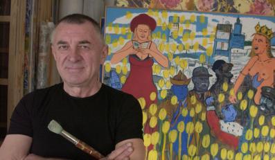 """Edward Dwurnik namalował własny """"Hołd Pruski"""" i """"Bitwę pod Grunwaldem"""""""