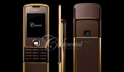 Nokia 8800 SAPPHIRE Continental pokryta 24-karatowym złotem