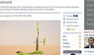 Rekord prędkości pobity w soli