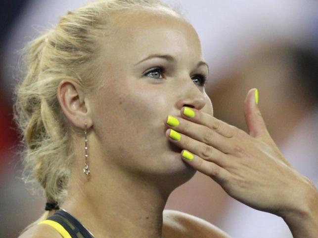 8 września 2010: Caroline Wozniacki pokonała Dominikę Cibulkovą (Słowacja) 6:2, 7:5 w ćwierćfinale turnieju US Open w Nowym Jorku