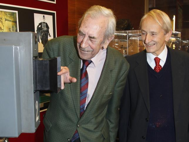 Jan Kobuszewski i pomysłodawca Muzeum Hubert Maliszewski