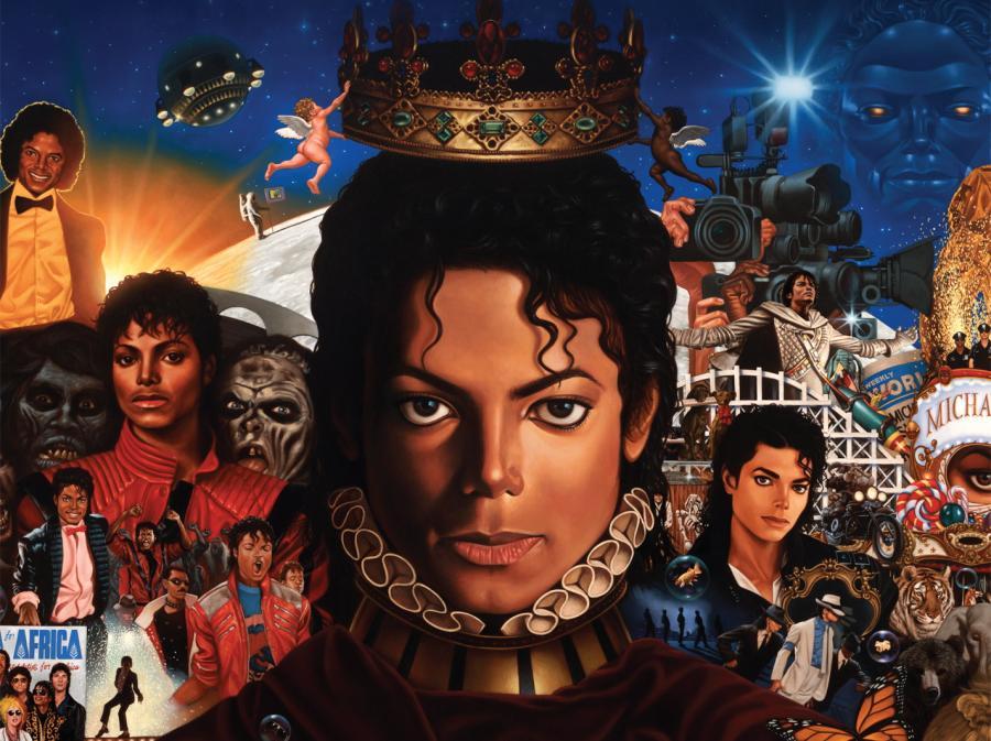 Portret Michaela Jacksona namalowany przez Kadira Nelsona