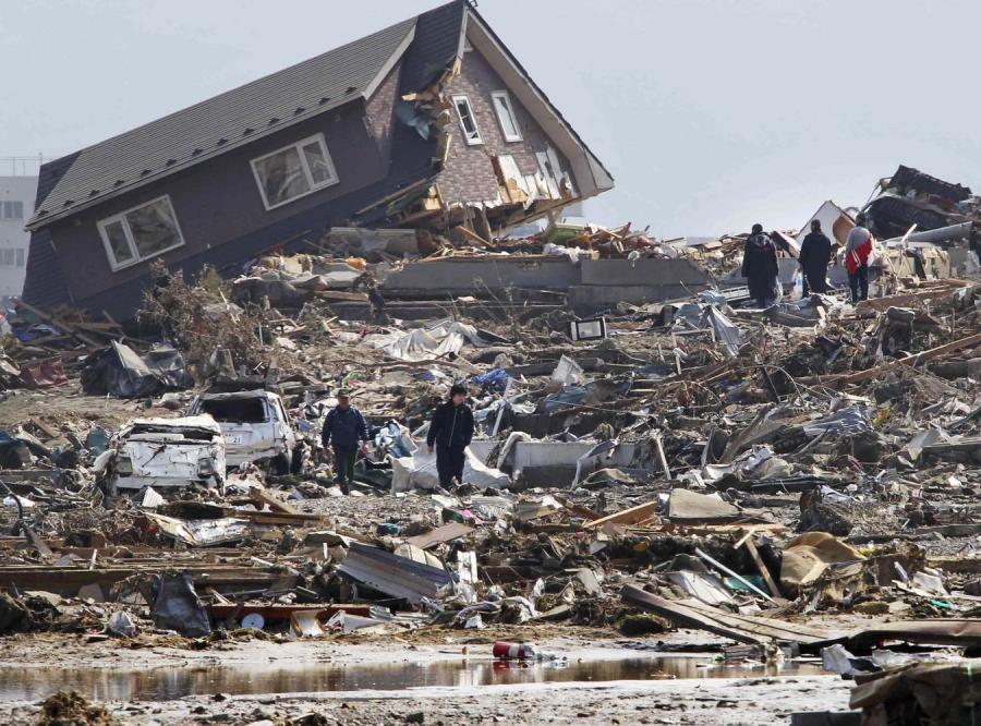 Zniszczenia po tragedii