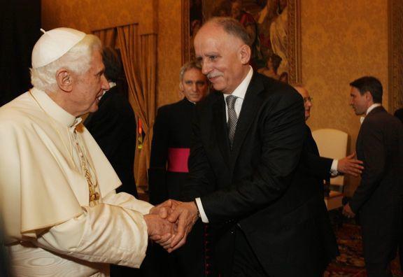 Benedykt XVI i Tadeusz Lampka
