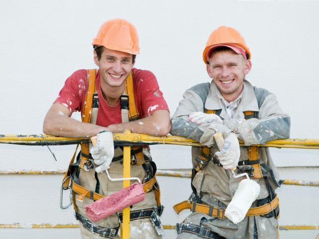 Robotnicy budowlani
