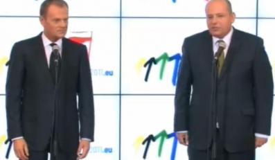 Premier Donald Tusk i Mikołaj Dowgielewicz