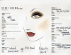 Face chart - makijaż Bobbi Brown dla Rachel Roy w stylu Earth Tones na New York Fashion Week Autumn/Winter 2011