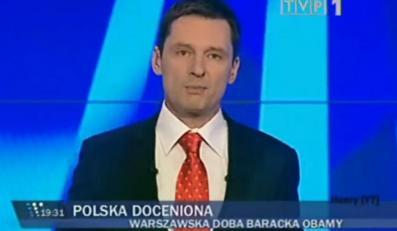 """Krzysztof Ziemiec prowadzący """"Wiadomości"""""""