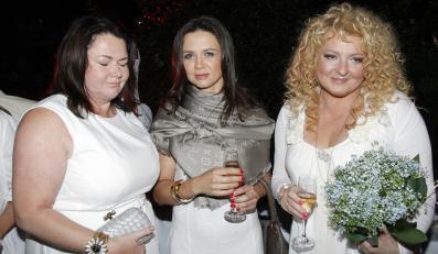 Katarzyna Niezgoda, Kinga Rusin i Magda Gessler na otwarciu restauracji Biała Gęś