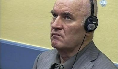 Ratko Mladić na rozprawie przed Trybunałem w Hadze