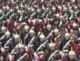 Wojsko podczas parady na Polach Elizejskich