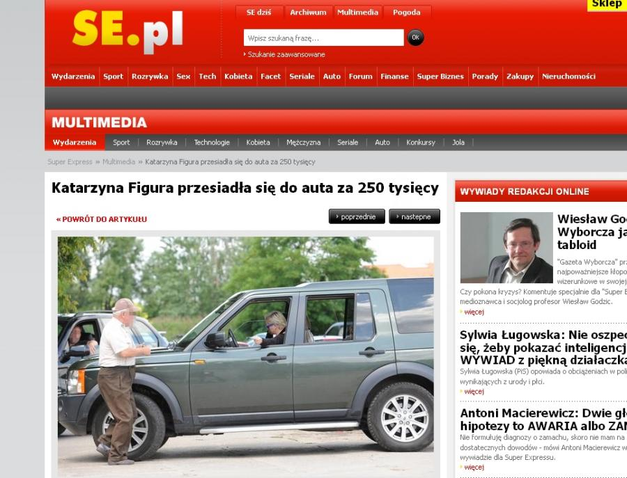 Katarzyna Figura ma nowe auto