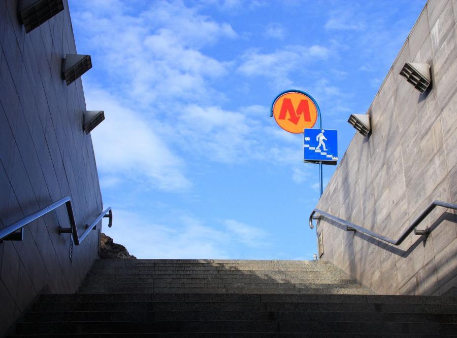 Pociski na budowie stacji metra Stadion