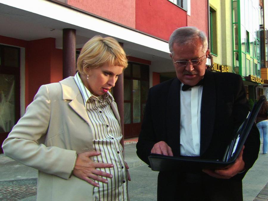 Paulina Holtz i Marian Dziędziel w \
