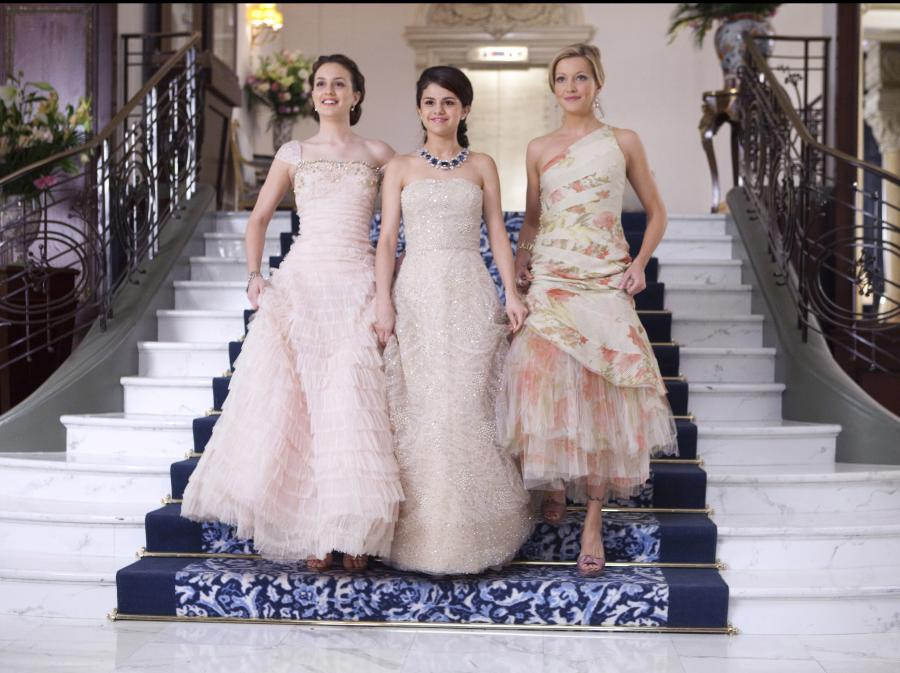 Leighton Meester, Selena Gomez i Katie Cassidy